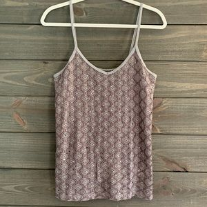 BKE Boutique Gray Sparkle Tank Top